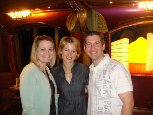 My husband and I met Samantha Brown